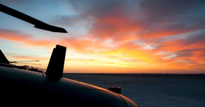 Sunrise over a Helmand Lynx