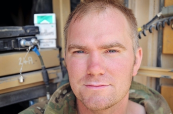 Corporal Si Longworth in Afghanistan