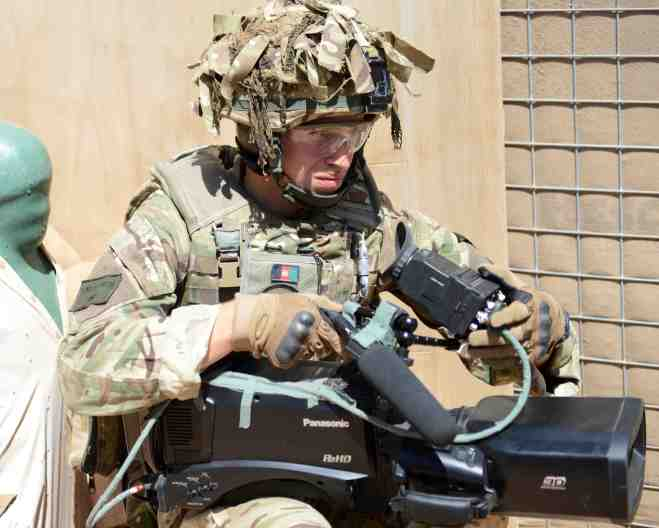3D filming of close quarters marksmanship. Sgt Barry Pope RLC (Phot)