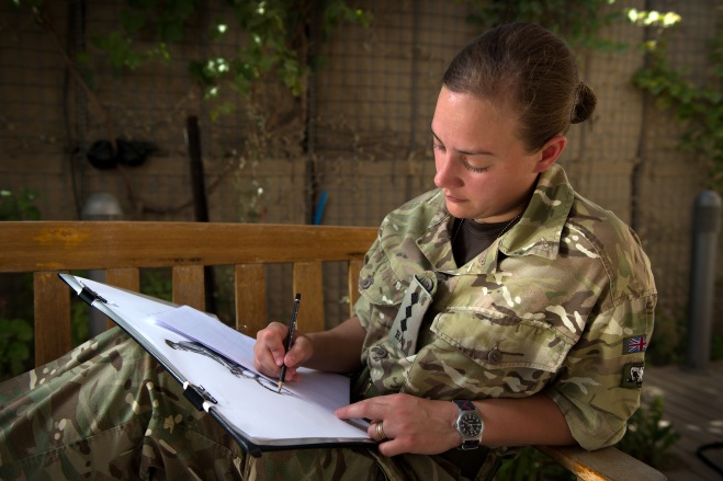 Captain Sophie Whitaker, 39 Regt RA. Photo by Cpl Si Longworth RLC