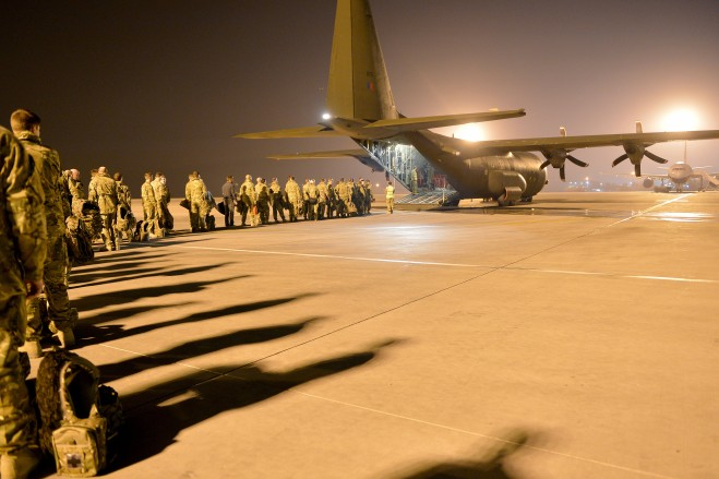 Soldiers begin their journey to Helmand