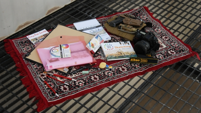 The artists' kit, or, operational art pack (camera and pistol not included!)