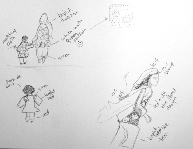 Lightening sketches of children