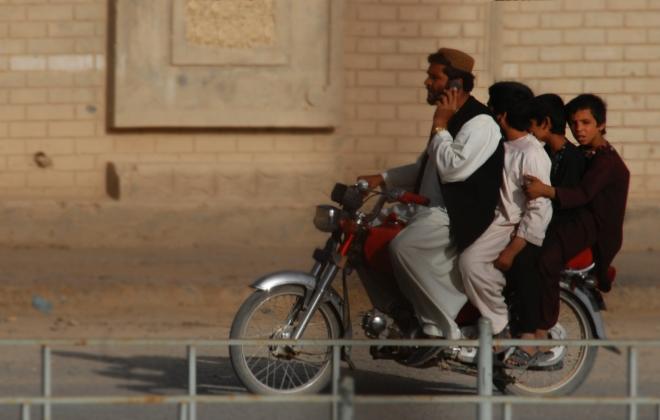 Four on a bike