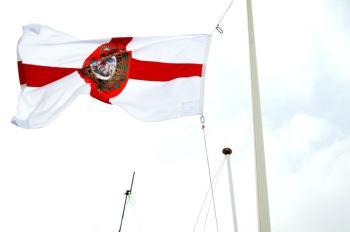 1RRF Regimental Flag flies over MOB PRICE