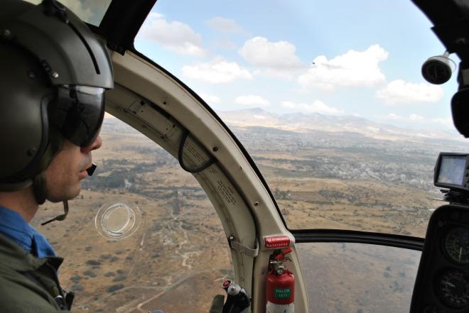 On aerial patrol