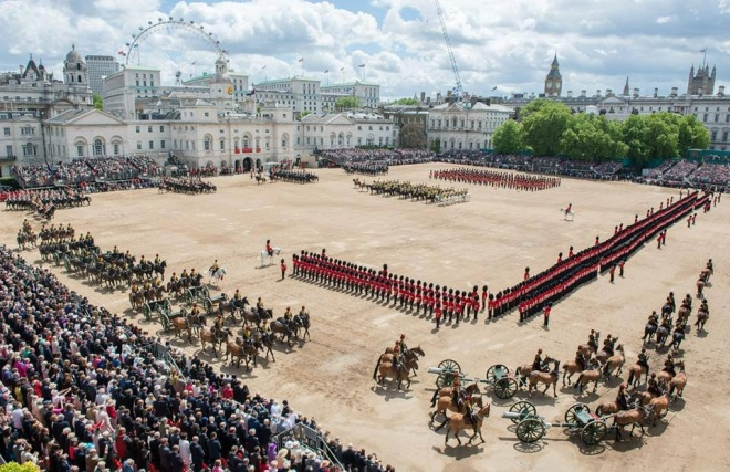 Bands leaving Horse Guards Parade