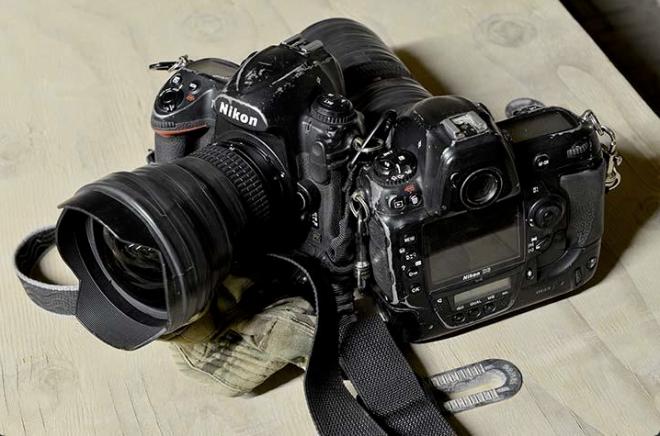 """""""Ben Birchall's battered D3 cameras"""""""