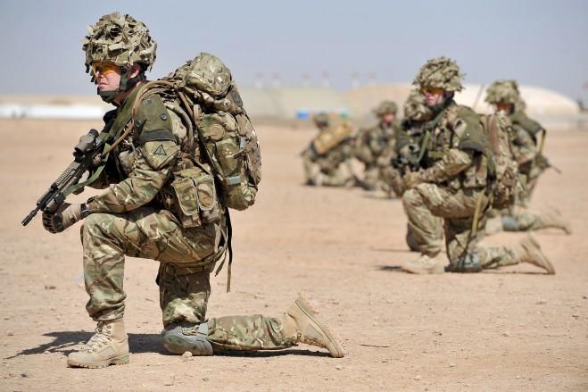 Troops undertake RSOI training. Cpl Si Longworth RLC (phot)