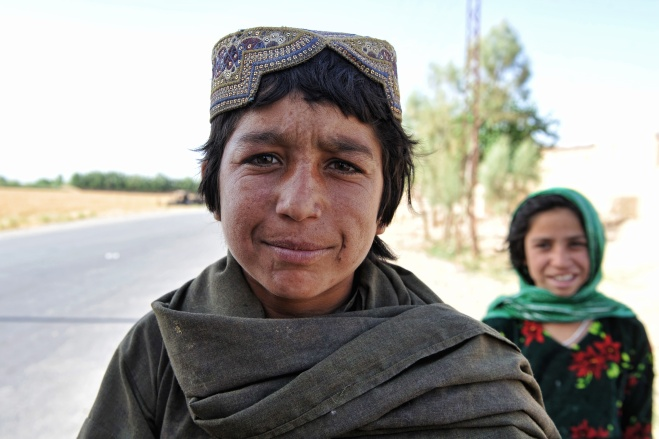 More Afghan children are curious of the camera