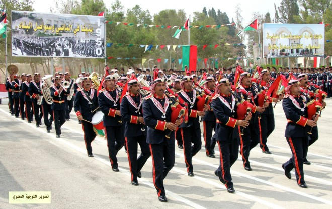 Jordanian Army marching band.
