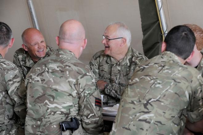 CGS talks to the troops – Cpl Si Longworth