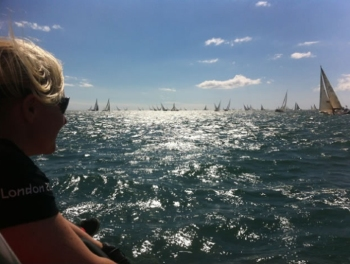 Sunday 11 August: A sea of sails leaving The Solent.