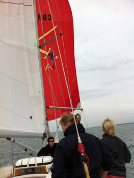 Spinnaker flying