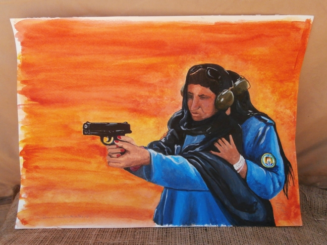 AUP women finished painting