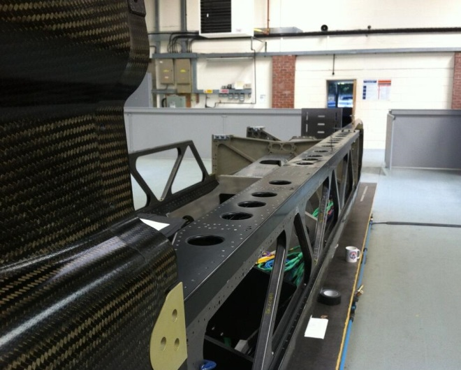 Chassis rails and lattice. Image Jules Tipler