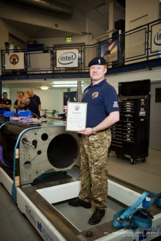 SSgt Neil Gallagher with his commendation. Image by Stefan Marjoram
