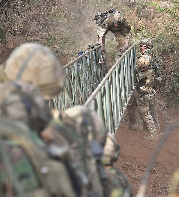 Infantry bridge. Crown copyright