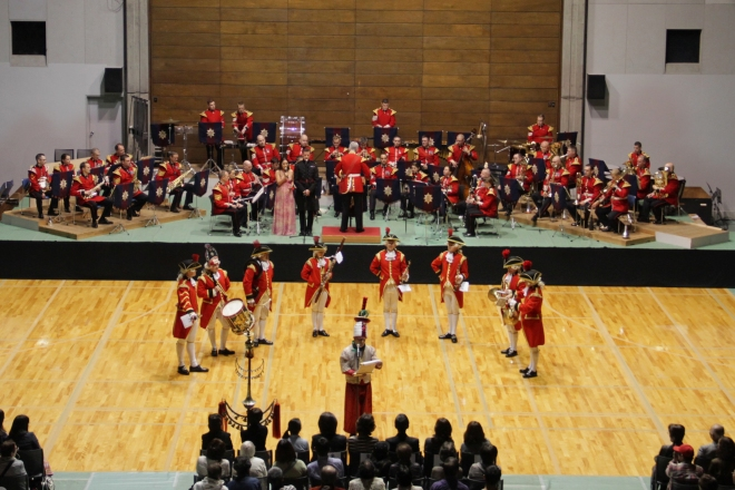 The concert at Obihiro Gymnasium