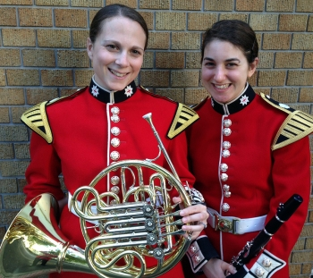 Musn Rachel Pounder (left) & Musn Abbie Kasparis (right)