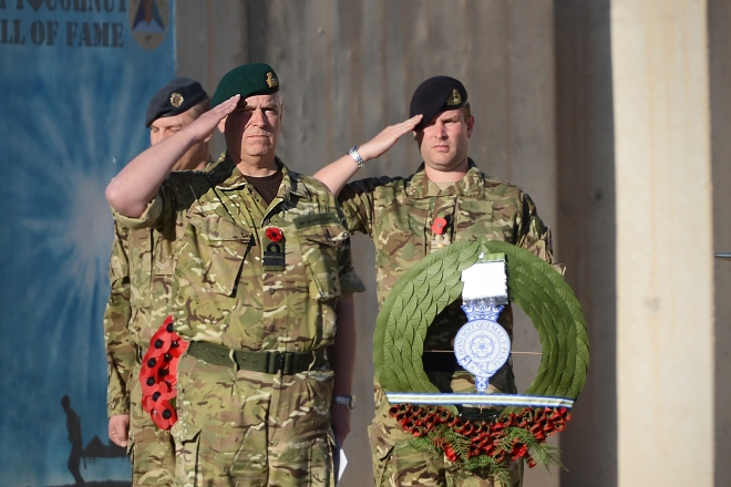 HRH, the Duke of York visits Kandahar for a Remembrance Service
