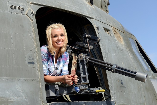 A photogenic Katherine Jenkins puts a smile on troops faces
