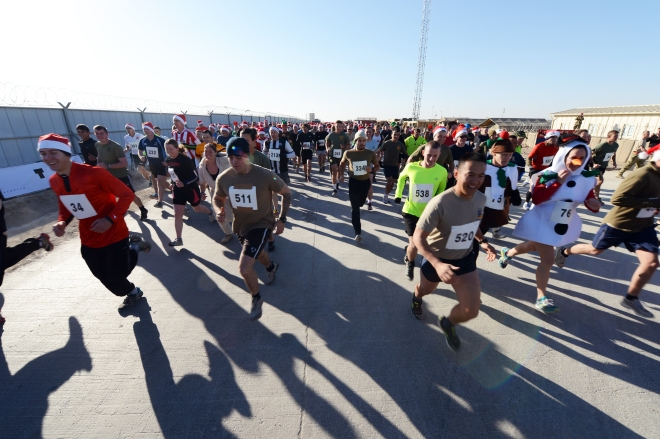 500 runners took part in the Christmas morning half marathon