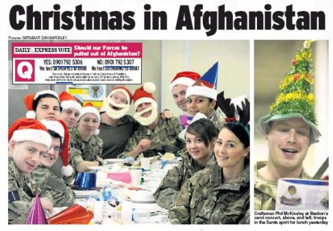Lots of coverage in the newspapers on Boxing Day