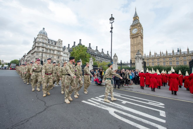 1st Mechanized Brigade parade through London.