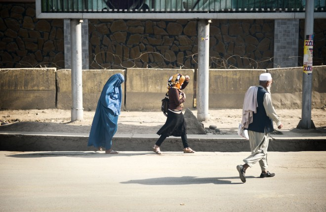 The Burka and the modern headscarf meet in Kabul