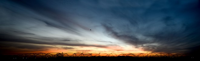 Sunset over Camp Bastion