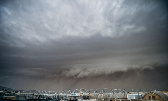 Sandstorm over Camp Bastion