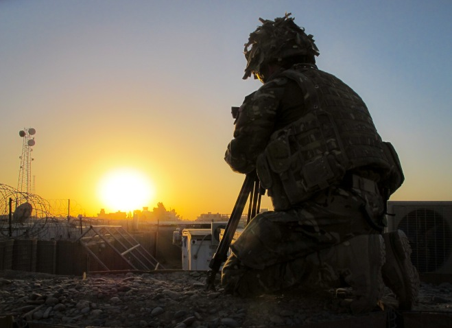 Sunset over Lashkar Gah. Photo credit – Lt Claire Jackson, RLC
