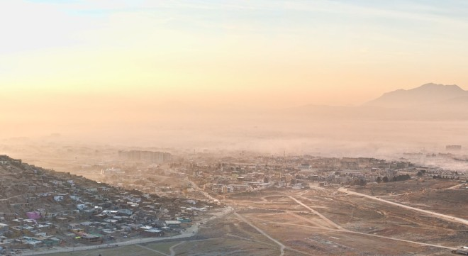 Kabul at dawn from the ANAOA site.
