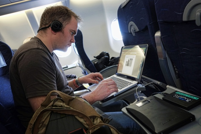 me writing this blog on the way to the Falklands
