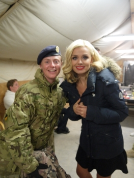 I meet the stunning Katherine Jenkins. Lt Cdr Ian King, RN