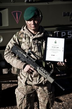 Sapper Ed Joseph with the Parker Trophy