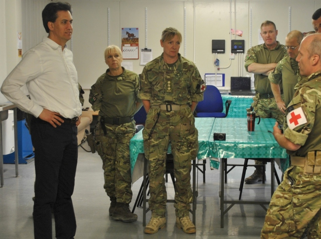 Ed Milliband visited the hospital at Camp Bastion.