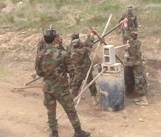 Command tasks at the Afghan National Army Officer Academy