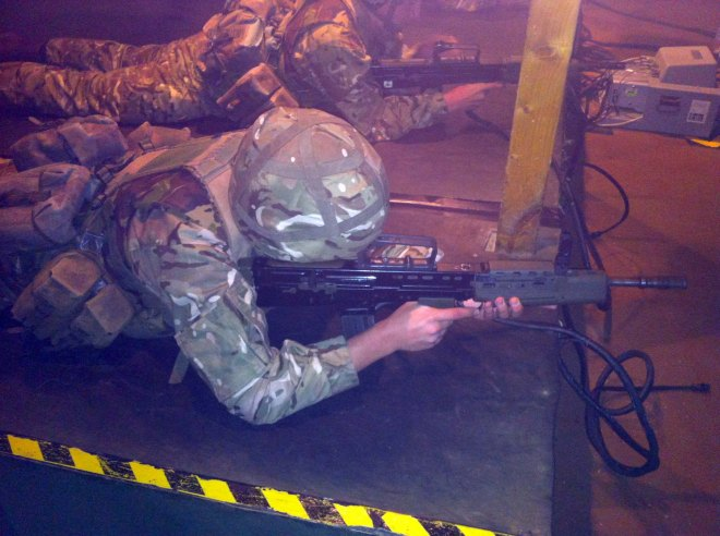 Prone - Recruit Vaughan undertaking the DCCT.