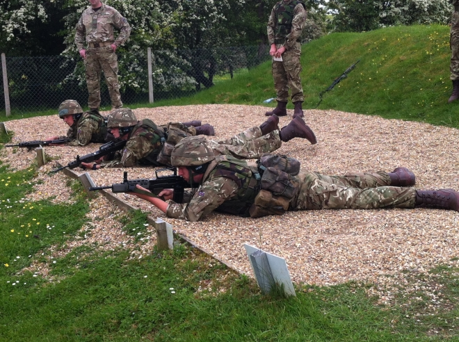 Live firing on Worthy Down Ranges.