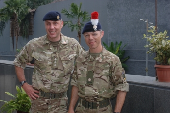 Capt Chris Willett (left), Maj Paul Lodge (right)