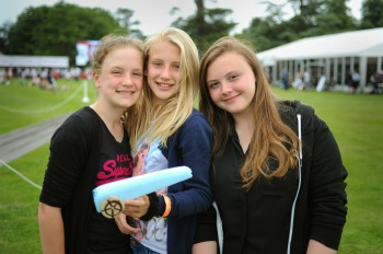 Rocket powered inspiration - Students from Twynham School Dorset display their rocket car