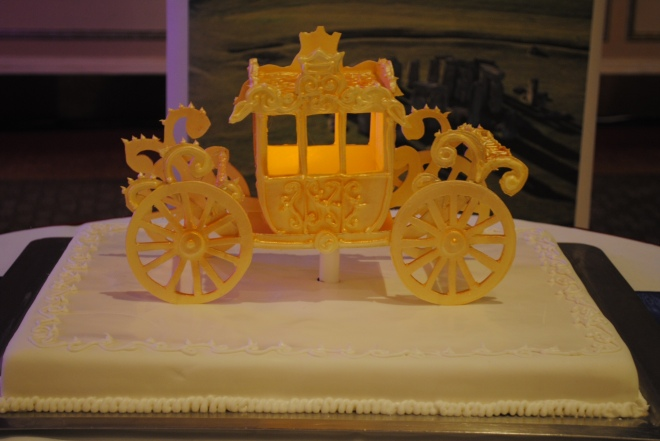 A cake fit for the Queen's Birthday, modelled on the new royal carriage