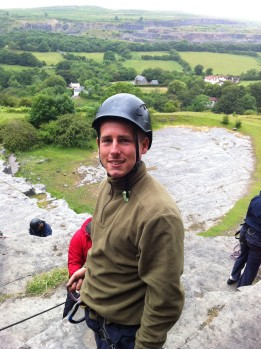 Recruit Vaughan rock climbing and abseiling