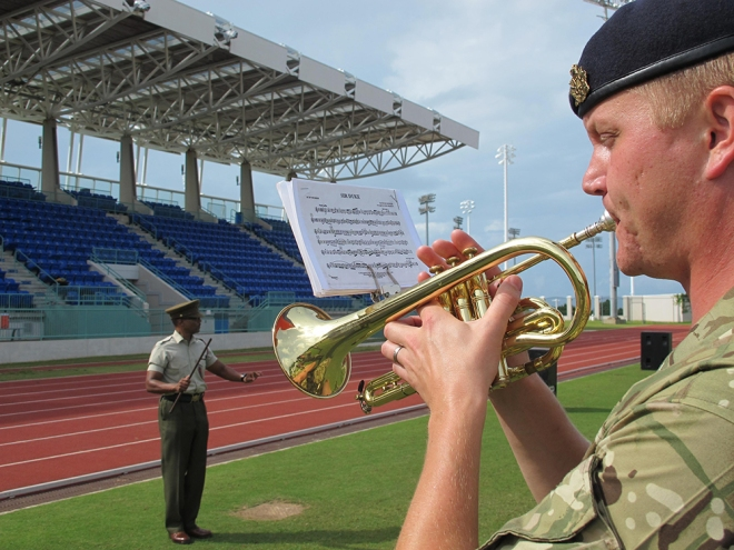 Musn Mattias Andersson performing at the Bermuda National Sports Centre.