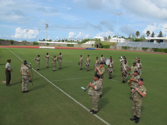 Rehearsals for the BPS Tatto at the Bermuda National Sports Centre