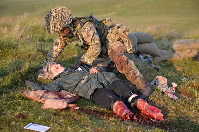 An 'Amputee in Action' providing realistic and valuable training scenarios to soldiers.