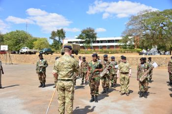 Marching with the Malawi Defence Force Band