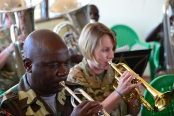Sgt Windley  with the Malawi Defence Force Band